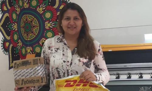 Client Ecuadorian bought one DX5 Printhead for her inkjet printer Human E-jet