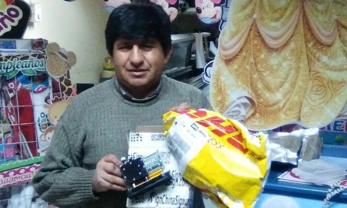 Client Peru,bought Seiko Spt510 35pl printheads for Infiniti inkjet printer