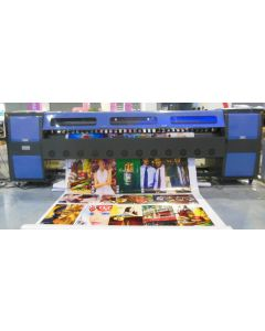 Zhongye Inkjet printer 3.2meter Heavy structure with 8 Spectra Polaris 512 35pl Printheads