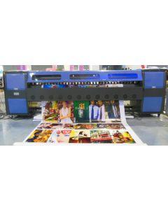 Zhongye Inkjet printer 3.2meter Heavy structure with 4 Spectra Polaris 512 35pl Printheads