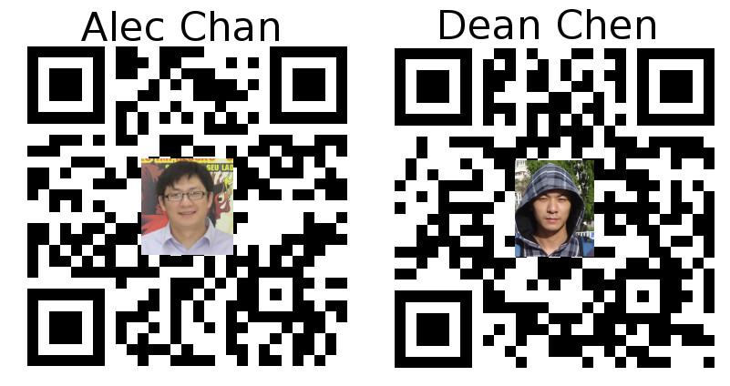 alec dean name card