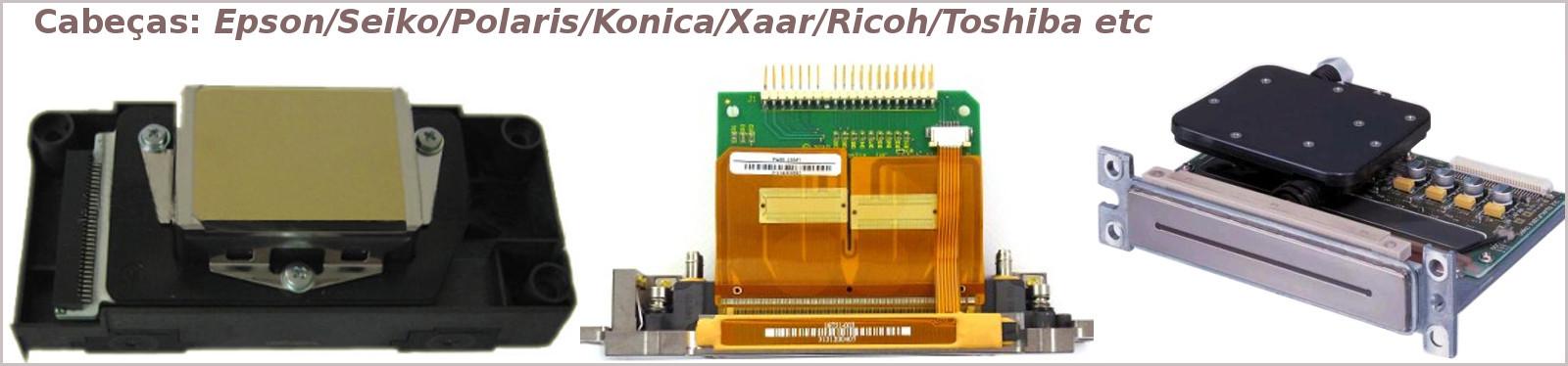 Cabeça de impressão como Seiko,Xaar,Konica Minolta,Spectra,Ricoh,Epson etc