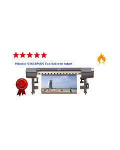 Plotter Micolor S1618PLUS 1.6metros eco Solvente com Cabeças Epson DX7