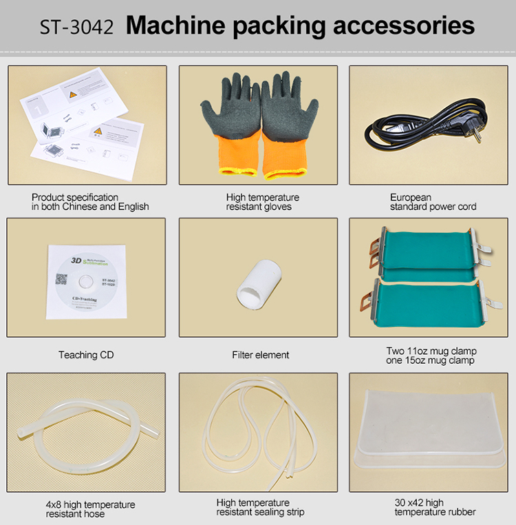 3D sublimation vacuun heat press machine  ST-3042   ( All in one printing machine )