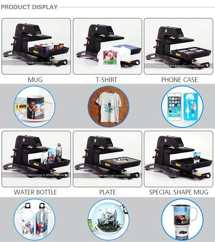 Auto-Pneumatic 3D Sublimation Press Machine Vacuum heat presss ST-420