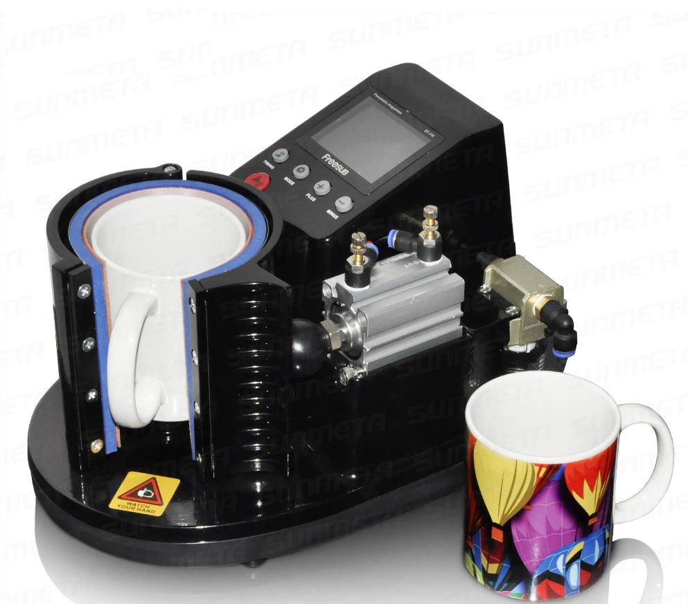 st 110 automatic pneumatic mug press printing machine