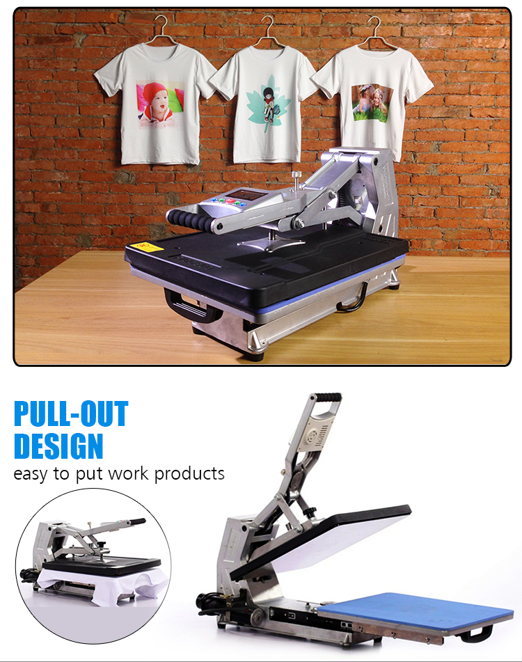 T-shirt printing heat press machine